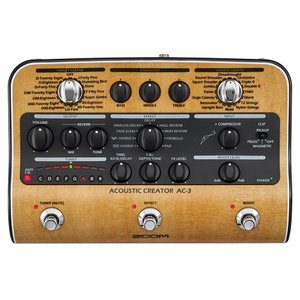 AC-3は、ピックアップを通すことで失われてしま うアコースティックギターの自然なボディ鳴りを 再現...