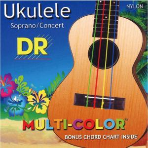 DR Strings UKULELE MULTI COLOR UMCSC ウクレレ弦 ソプラノ・コン...