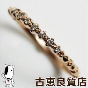 K10 ピンクゴールド 4℃ リング 指輪 1.1g サイズ8号ダイヤ付き/中古/質屋出店/あすつく/MR1158|koera