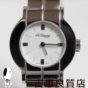 値下げ/ST.DUPONT デュポン SS 136 L3 BE30 レディース腕時計 クォーツ QZ Quartz ジュオメトレー/MT302/中古/質屋出店/あすつく|koera