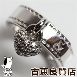 Pinky&Diaane ピンキー&ダイアンK18WG 指輪 ホワイトゴールド  D.0.09ct 5.5g リング サイズ9号 ハート/中古/質屋出店/あすつく/MR886|koera