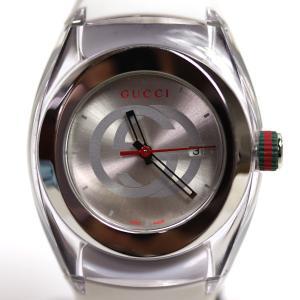 GUCCI グッチ SYNC シンク クォーツ レディース 腕時計 YA137302 ホワイト /中古/質屋出店/MT2896|koera