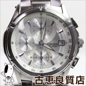 ワイアード WIRED 腕時計 メンズ 腕時計 クロノグラフ シルバー文字盤 7T92-0GB0/中古/質屋出店/あすつく/MT982|koera
