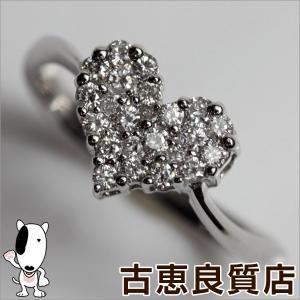K18WG 指輪 ホワイトゴールド ファッションリング D.0.30ct 2.3g リング サイズ12号 ハート/MR503/中古/質屋出店/あすつく|koera