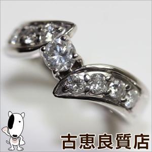 Pt 指輪 プラチナリング D.0.41ct 7.2g リング サイズ15号/MR473/中古/質屋出店/あすつく|koera
