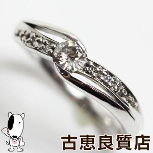K18WG 指輪 ホワイトゴールド ダイヤ0.16ct/0.03ct 2.8gリング サイズ10号 /新品仕上げ済みあすつく/MR1314/中古 koera