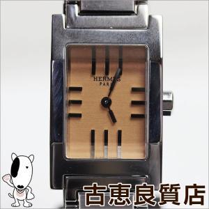 HERMES エルメス タンデム レディース 腕時計 SS オレンジ文字盤 クォーツ TA1.210/中古/質屋出店/あすつく/MT1079 koera