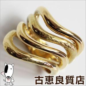 K18 イエローゴールド リング 指輪 12.9g サイズ14.5号/中古/質屋出店/あすつく/MR910 koera