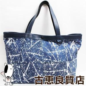 SOLATINA ソラチナ トートバッグ メンズ レディース ブルー made in japan/質屋出店あすつく/中古 koera