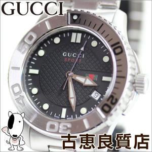 GUCCI グッチ 126.2 Gタイムレス メンズ クォーツ 腕時計 SS 45ミリ 黒文字盤 クオーツ SS YA126251/中古/質屋出店/あすつく/MT917 koera