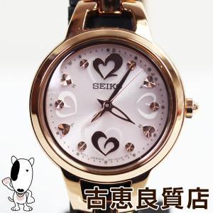 /MT1391/中古/美品セイコー SEIKO ティセ SWFH032 レディース腕時計 ソーラー電波 ピンクゴールドモデルあすつく/質屋出店|koera