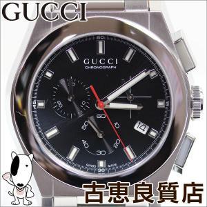 グッチ GUCCI YA115235 パンテオン 41mm クオーツ クロノグラフ/中古/質屋出店/あすつく/MT1138|koera