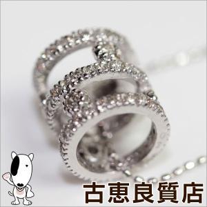 【商品名】K18WG ダイヤ0.5ct ネックレス 【素材】K18WG 【チェーンサイズ】幅:約0....