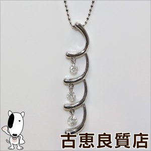 商品コード:city05-8-22  【商品名】K18WG ダイヤ0.3ct ネックレス 【素材】K...
