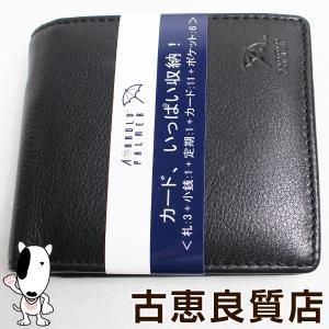 アーノルドパーマー ARNOLD PALMER 4AP3303 2つ折り財布 ブラック/質屋出店あすつく/新品・未使用品 /買取品|koera