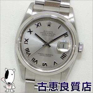 ROLEX デイトジャスト メンズ  グレーローマン 腕時計 自動巻き 16200 D051***(hon)|koera