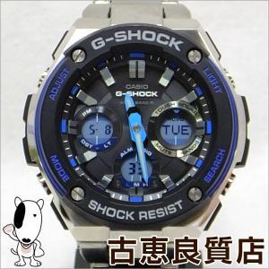 CASIO カシオ G-SHOCK Gショック ジーショック メンズ腕時計  アナデジ マルチバンド6 電波ソーラーGST-W100D-1A2JF G-STEEL Gスチール(hon)|koera