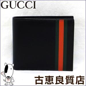 GUCCI gucci グッチ 二つ折財布 レザー レザーウェブ バイフォルド 386840 BTT7N 1060 (hon)|koera