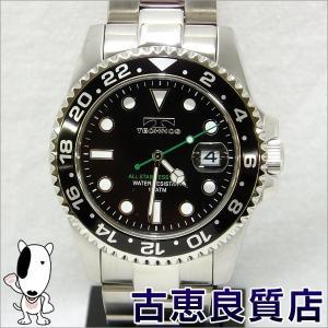 新品・未使用品・買取品 TECHNOS テクノス メンズウォッチ  腕時計 42mm 10気圧防水 QZ クォーツ 黒文字盤 TSM412SB(hon)|koera