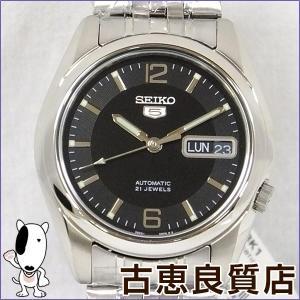 新品・買取品 SEIKO 腕時計 セイコー5 セイコー ファイブ 海外モデル メンズ 腕時計 AT オートマチック 黒文字盤 SNK393KC (hon)|koera