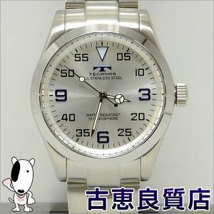 新品・未使用品・買取品 TECHNOS テクノス メンズウォッチ  腕時計 39mm 10気圧防水  QZ クォーツ シルバー文字盤 T2486SS(hon)|koera