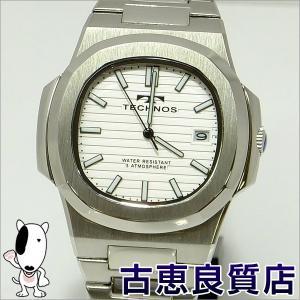 新品・未使用品・買取品 TECHNOS テクノス メンズウォッチ 腕時計 38mm QZ クォーツ ホワイト文字盤 SS ノーチラスタイプ T9556SW(hon)|koera