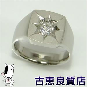 新品 PT プラチナ 指輪 印台 D0.51 25.4g  メンズ リング サイズ22号 (hon)|koera