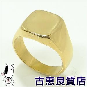 K18 指輪 印台 メンズ 17.8g リング サイズ21号 (hon) koera