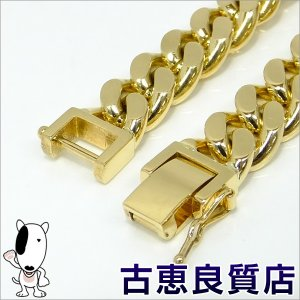 rh406 K18 2面喜平 100.7g 21.5cm  ゴールド ブレスレット  中古(hon)|koera