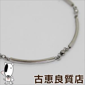 ELLE K18WG ホワイトゴールド ブレス 2.5g 17.5cm(hon)|koera