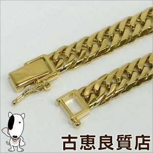 K18 6面W喜平 20.3g 20cm  ゴールド ブレスレット  中古(hon)|koera