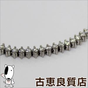 PT プラチナ ダイヤ 3.00カラット テニスブレス 10.5g 19.5cm(hon)|koera
