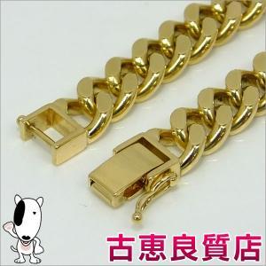 K18 2面喜平 49.1g 21.5cm ゴールド ブレスレット 中古(hon)|koera