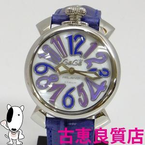 中古 ガガミラノ GAGA MILANO  5020-3 マヌアーレ 40MM 腕時計  レディース メンズ ユニセックス  MANUALE 40MM ホワイトシェル文字盤 (hon)|koera