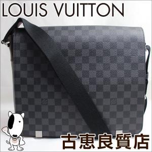 プレミアム会員ポイント5倍 未使用・買取品  LV lv ルイヴィトン LOUIS VUITTON N41029 ダミエ グラフィット ディストリクトMM メンズ ショルダーバッグ(hon) koera