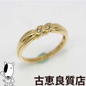 K18 指輪 デザインリング 2.2g サイズ10.5号 中古/美品(hon)|koera