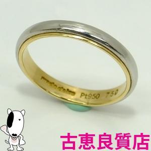 K18/PT 指輪 マリ・クレールリング marie claire 4.6g サイズ17号  中古 (hon)|koera