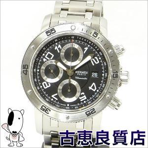 エルメス HERMES CP2.910 オートマ クリッパーダイバー クロノグラフ メンズ 腕時計 自動巻き ダイバーモデル 黒文字盤  (hon) koera