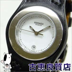 HERMES エルメス アーネ クォーツ レディース 腕時計 ホワイト文字盤 SS/レザーD刻印 HA3.210(hon) koera
