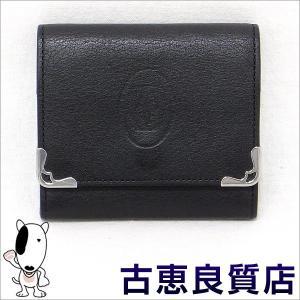 カルティエ Cartier 小銭入れ コインケース マストライン ブラック/ボルドー レザー L3001372(本店)|koera