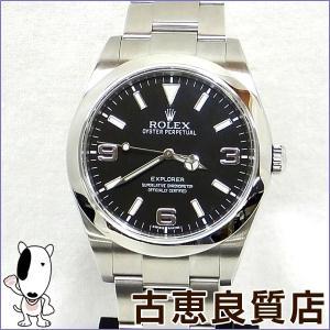 美品 ロレックス ROLEX エクスプローラー1 メンズ 腕時計 自動巻き ブラック文字盤 214270 P18W**** (hon)|koera