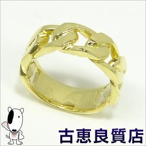 中古・美品 K18 イエローゴールドリング  9.2g リングサイズ14号(hon)|koera