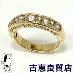 中古・美品 K18PG ダイヤモンドリング  D1.0 6.0g リングサイズ12号(hon)|koera