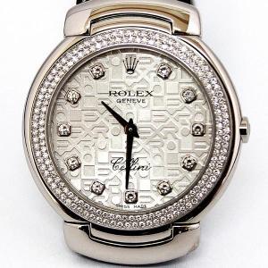 ROLEX ロレックス CELLINI CELLISSIMA チェリーニ チェリッシマ ボーイズ 腕時計 クオーツ K18WG ダイヤベゼル 11ポイント6681/9 (hon) koera