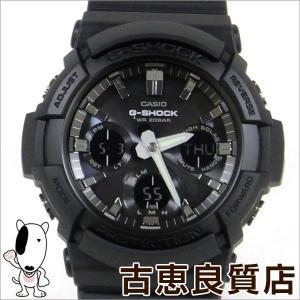 美品 CASIO カシオ  G-SHOCK Gショック GAS-100B-1A クォーツ アナデジ ブラック メンズ腕時計 タフソーラー (hon)|koera