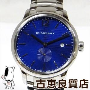 美品 BURBERRY バーバリー メンズ 腕時計 ブルー文字盤 クラシック ラウンド クォーツ BU10007(hon)|koera