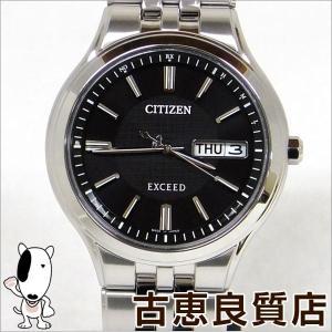 極美品 CITIZEN シチズン メンズ 腕時計 エクシード EXCEED エコドライブ 電波時計 チタン AT6000-52E(hon)|koera