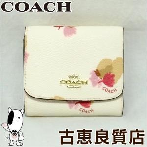 新品・未使用・買取品 コーチ COACH フローラルプリント スモールウォレット 折財布 ホワイト F53758(hon)|koera
