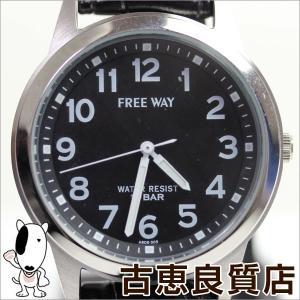 新品/未使用品/CITIZEN シチズン メンズ 腕時計 キューアンドキュー Q&Q  ソーラー FREEWAY アナログ 革ベルト AB08-305/買取品/質屋出店/MT980|koera