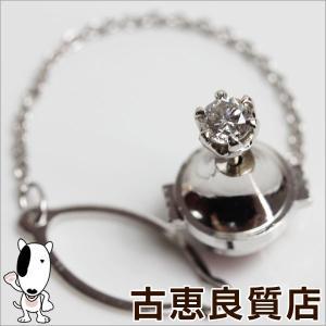 Pt プラチナ ダイヤ D0.336ct タイピン 0.8g ネクタイピン/中古/質屋出店/あすつく|koera